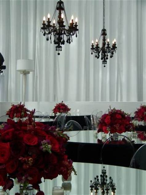 Black And Red Wedding Sets
