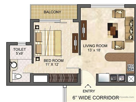 1 bedroom apartment furniture layout logix new town sector 150 noida apartment flat