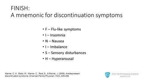 Ssri Detox Symptoms by Antidepressant Discontinuation Diagnosis