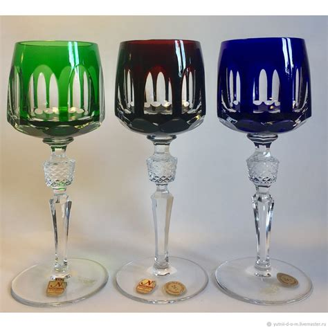 wine glasses antique colored crystal nachtmann