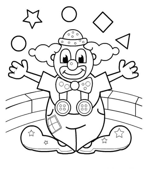 clown coloring page coloring home