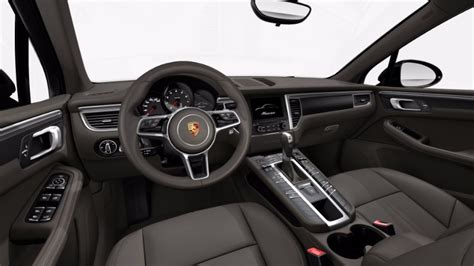 porsche macan agate grey available 2017 porsche macan interior leather options