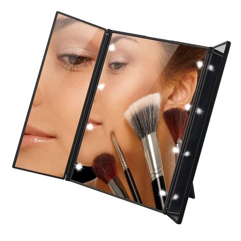 Tri Fold Makeup Vanity Mirror by Aliexpress Buy Tri Fold Illuminated Led Lighted