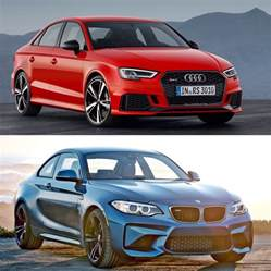 bmw m2 takes on audi rs3 on drag doesn t
