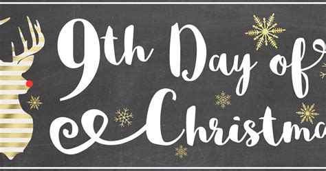 ninth day of christmas ideas aly dosdall 9th day of last minute diy gift tags