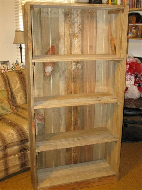 reclaimed wood bookshelves pallet bookcase by