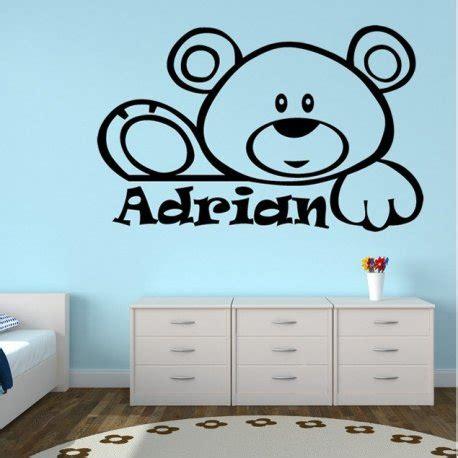 vinilo decorativo infantil vinilo decorativo infantil oso saludando