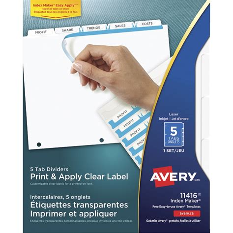 Avery Template 5868