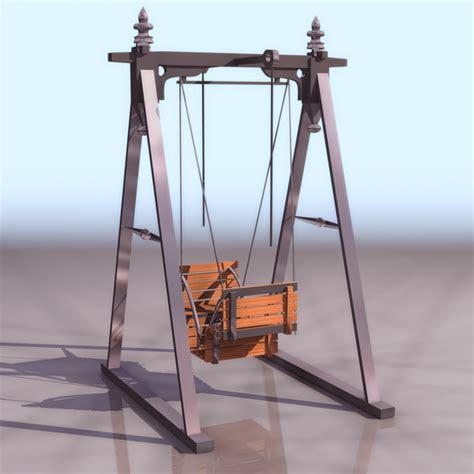 Swing 3d Model by Garden Swing Chair 3d Model 3ds Files Free