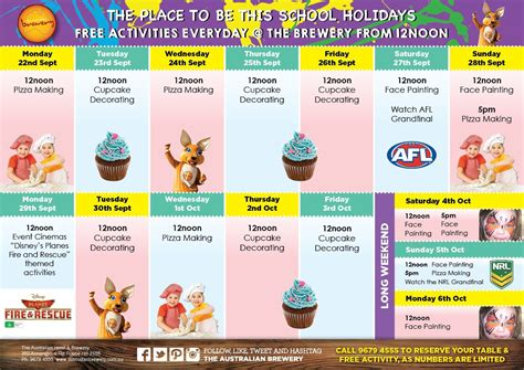 Decorating Program free school holiday activities at the brewery sydney