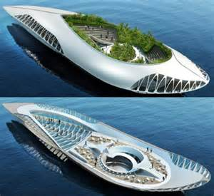 The physalia vessel with its amphibious garden can contribute to the