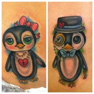penguin tattoos for couples penguin tats favourite