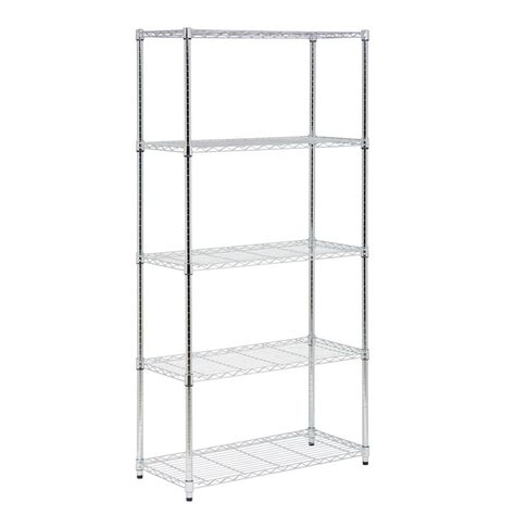 honey can do 72 in h x 36 in w x 16 in d 5 shelf steel