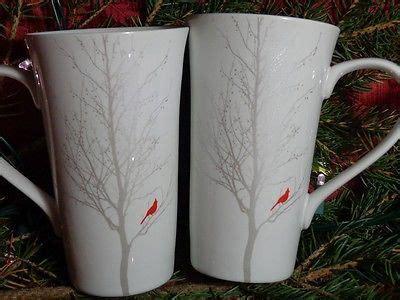 winter cardinal tall latte coffee  mugs