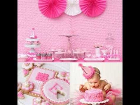 decoration for baby girl birthday decorating party and baby girl first birthday party decorating ideas youtube