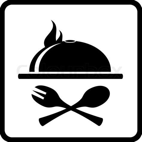 kuche logo icon mit k 252 che und speise utensil vektorgrafik colourbox
