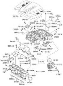 Hyundai Motor Parts 2010 Hyundai Santa Fe Intake Manifold 3 5l Lambda 2