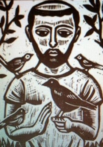 st francis tattoo st francis of assisi woodcut pretty as a picture
