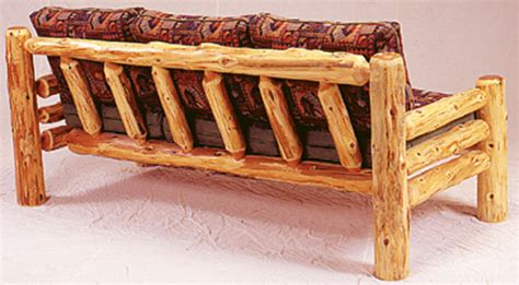log couch timberland sofa rustic furniture mall by timber creek
