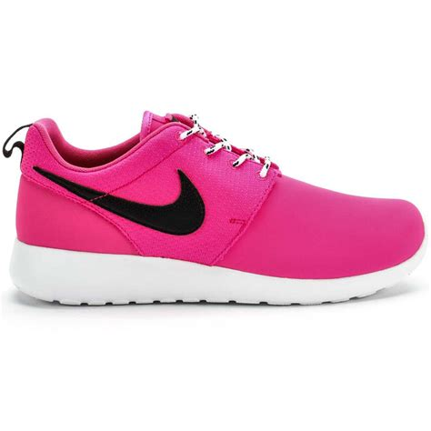 pink and black nike running shoes roshe run grade school running shoe pink black