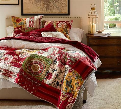 Pottery Barn Patchwork Quilt by Floral Patchwork Quilt Sham Pottery Barn