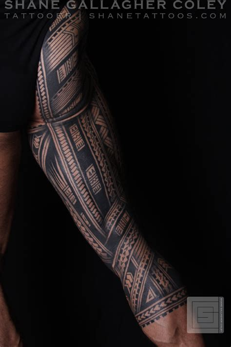 shane tattoos polynesian sleeve chest tatau tattoo shane tattoos polynesian samoan inspired leg sleeve