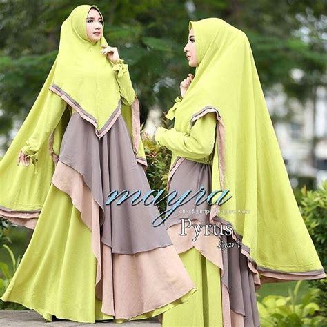 Baju Dress Wanita Mayra Dress pyrus syari by mayra baju gamis syar i cerutty mix pop