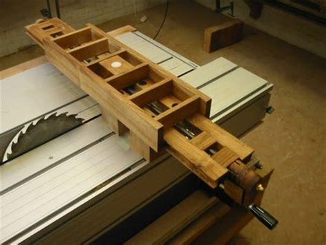 build diy tenoning jig sliding table   plans wooden