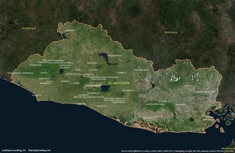 el salvador satellite map el salvador satellite maps leaddog consulting