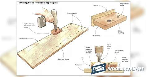 Shelf Pin Jigs by Diy Shelf Pin Jig Woodarchivist