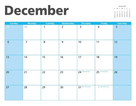 December 2015 Calendar December 2015 Calendar Page Free Stock Photo