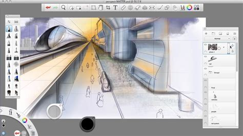 sketchbook tutorial autodesk sketchbook pro drawing one point perspective