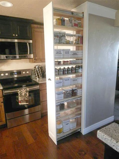 kitchen cabinet spice rack organizer refrigerator small the 25 best pull out pantry ideas on pinterest
