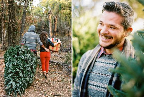 christmas tree farm engagement pictures austin wedding
