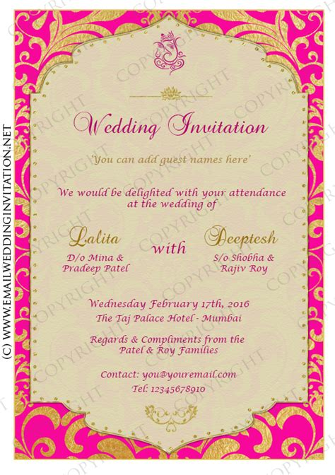 email wedding card templates single page diy email wedding card template gold leaf fr