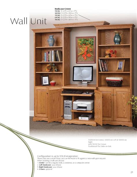 computer desk wall units