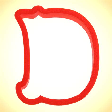 College Letter Cookie Cutters curly letter d cookie cutter cookie cutter experts since