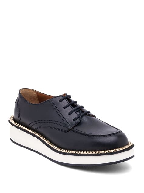givenchy rottweiler shoes givenchy rottweiler chain embellished leather derby shoes in black for lyst