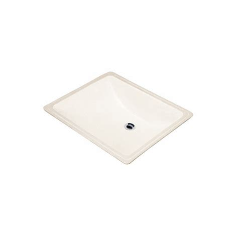 square undermount bathroom sinks shop danze cobalt biscuit undermount square bathroom sink with overflow at lowes com