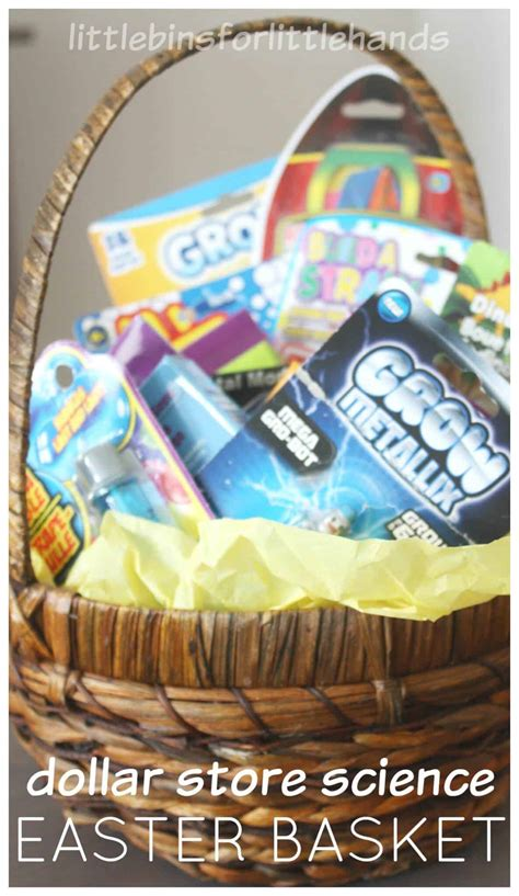 dollar store science kits  easter basket ideas  fillers