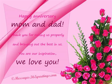 Wedding Anniversary Wishes Quotes For Parents by Anniversary Messages For Parents 365greetings
