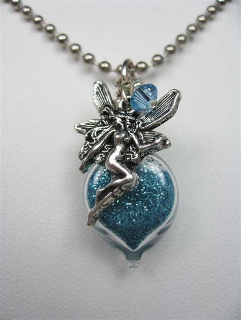 turquoise pixie dust necklace with charm
