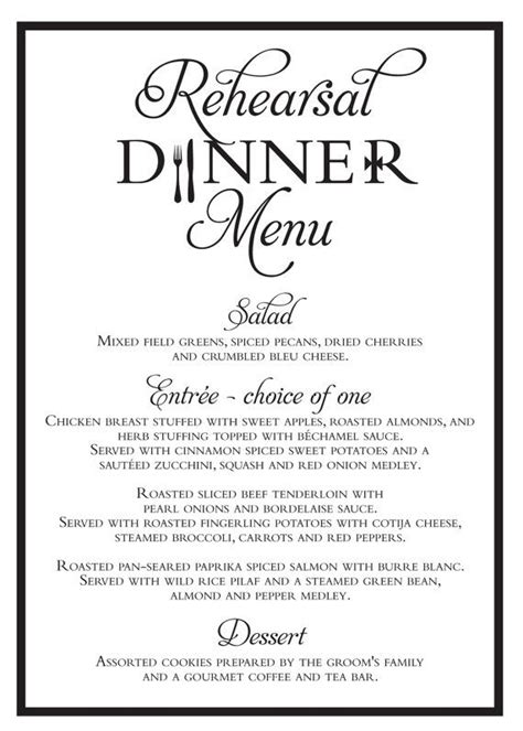 elegant dinner party menu ideas 25 best ideas about rehearsal dinner menu on pinterest