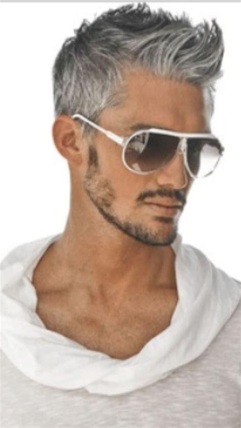 mens hair color salt and pepper stylish mens hair color trends handsome gray haired man men s hair pinterest
