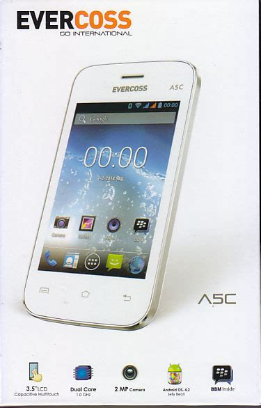 Harga Merk Hp Evercoss evercoss a5c harga spesifikasi hp android murah 500 ribuan