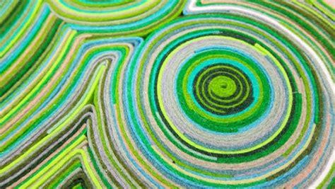 tappeti fai da te fai da te il tappeto di feltro riciclato