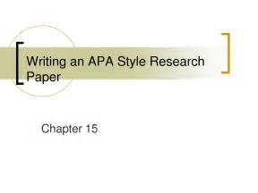 How To Write An Apa Style Research Paper Research Paper Outline Apa Template