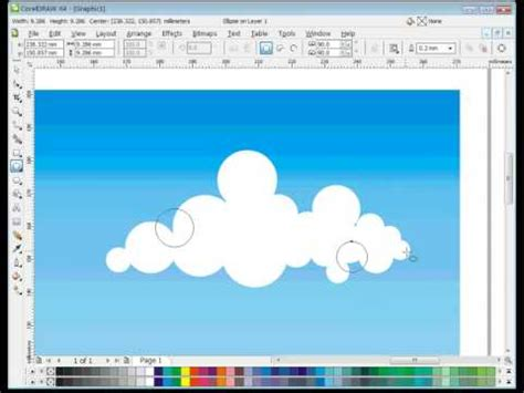 how to a cloud l 04 corel draw tutorial quot how to vector clouds quot