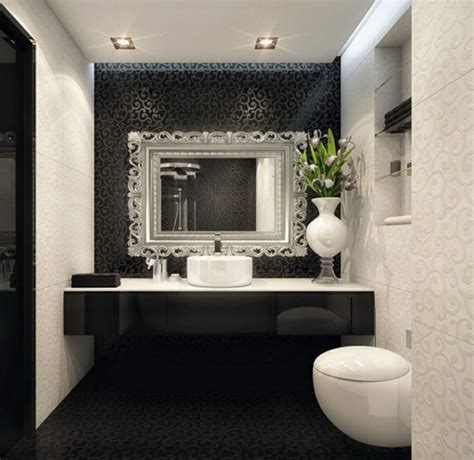 guest bathroom decor ideas with flush mount ceiling lights decolover net carrelage salle de bain noir et blanc et meuble salle de bain noir et blanc