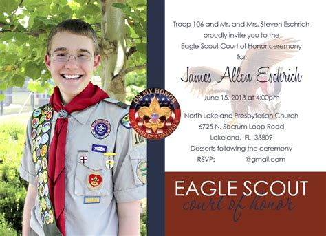 eagle scout invitations images